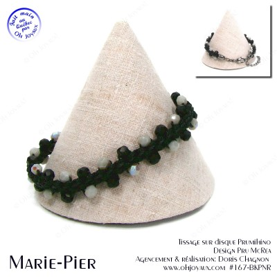 Bracelet Marie-Pier en noir et gris