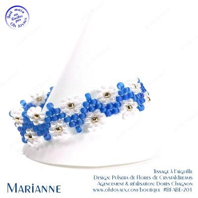 Bracelet Marianne en bleu pâle et blanc