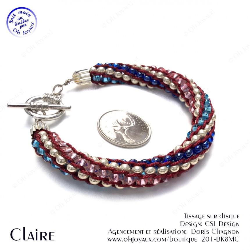Bracelet Claire - Kumihimo billes multicolores