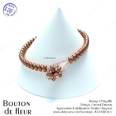 Bracelet Bouton de fleur or