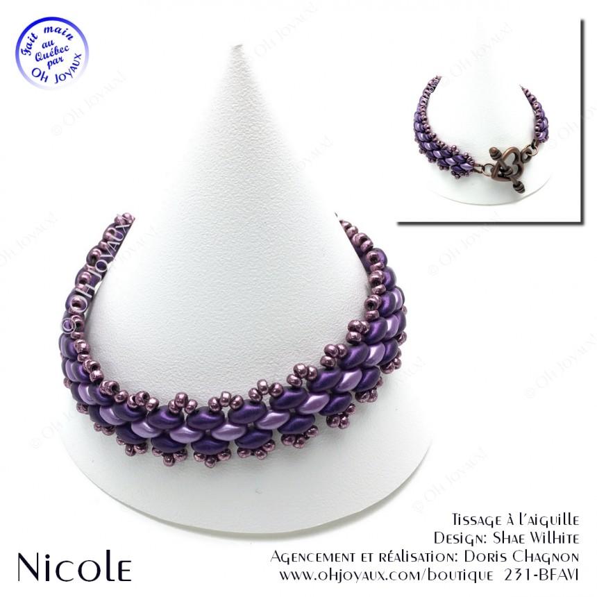 Bracelet Nicole aubergine