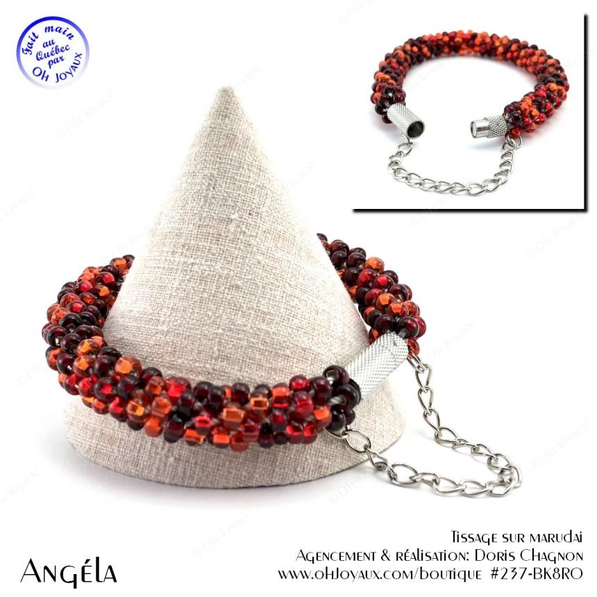 Bracelet Angéla en teintes de rouge