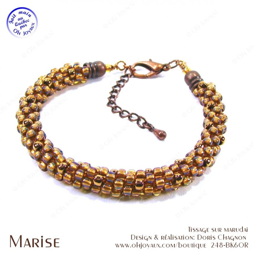 Bracelet Marise en cuivré pâle