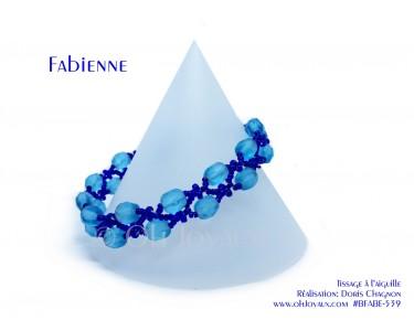 "Bracelet ""Fabienne"" en aquamarine"