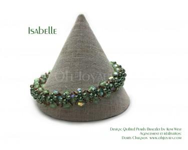 """Bracelet """"Isabelle"""" en vert péridot et cuivre"""