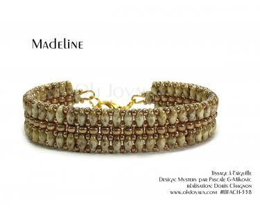 """Bracelet """"Madeline"""" en amandes grillées et champagne"""