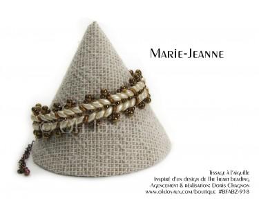 """Bracelet """"Marie-Jeanne"""" en crème et bronze"""