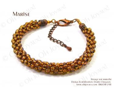 """Bracelet """"Marise"""" en cuivré pâle"""