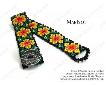 "Bracelet ""Marisol"" multicolore de style Huichol"