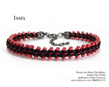 """Bracelet """"Tania"""" en rouge et noir"""