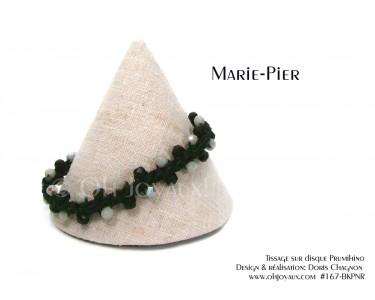 """Bracelet """"Marie-Pier"""" en noir et gris"""