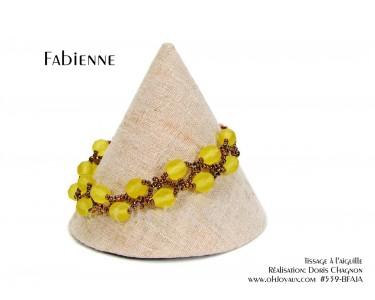 """Bracelet """"Fabienne"""" en jaune et bronze"""