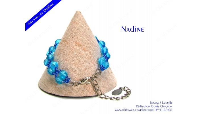 "Bracelet ""Nadine"" en aquamarine"