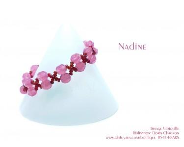 "Bracelet ""Nadine"" en rose et rubis"