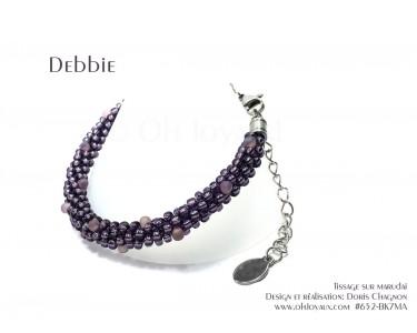 "Bracelet ""Debbie"" en magenta"