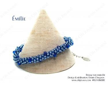 """Bracelet """"Émilie"""" en bleu saphir"""
