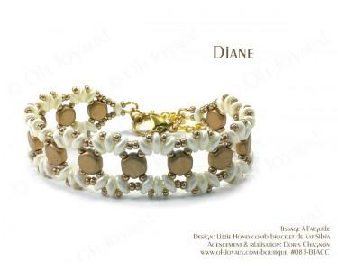 """Bracelet """"Diane"""" en champagne et crème"""