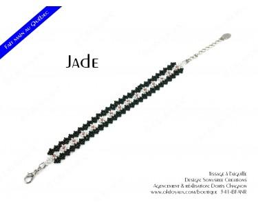 "Bracelet ""Jade"" en noir et blanc"