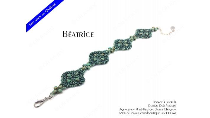 "Bracelet ""Béatrice"" en vert turquoise"