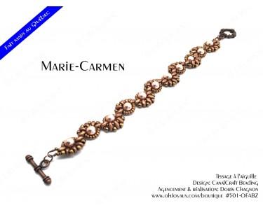 """Bracelet """"Marie-Carmen"""" en teintes de cuivré"""