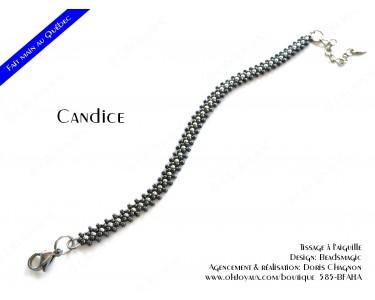 """Bracelet """"Candice"""" de couleur hématite et argenté"""
