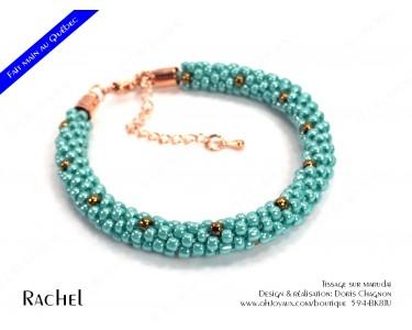 """Bracelet """"Rachel"""" en turquoise et cuivré"""