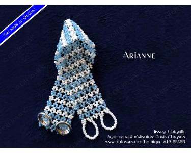 "Bracelet ""Arianne"" en bleu et blanc"