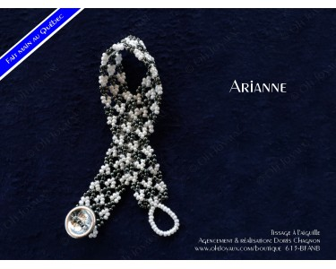 "Bracelet ""Arianne"" en noir et blanc"