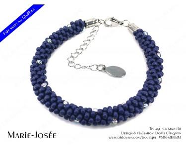 """Bracelet """"Marie-Josée"""" en marine"""