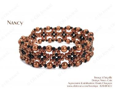 """Bracelet """"Nancy"""" dans les tons de cuivré et noir"""