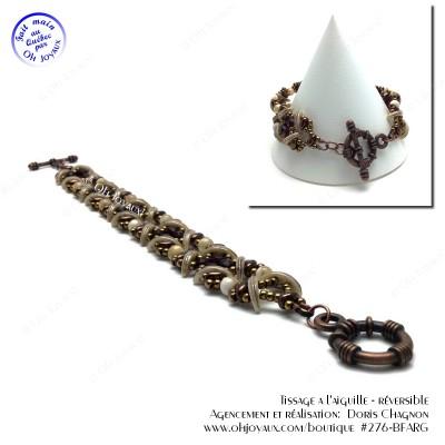 Bracelet Sensations grenat et bronze