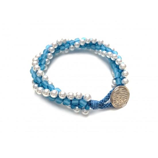 Bracelet Kumihimo speudo Cellini