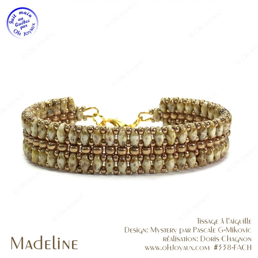 Bracelet Madeline en amandes grillées et champagne