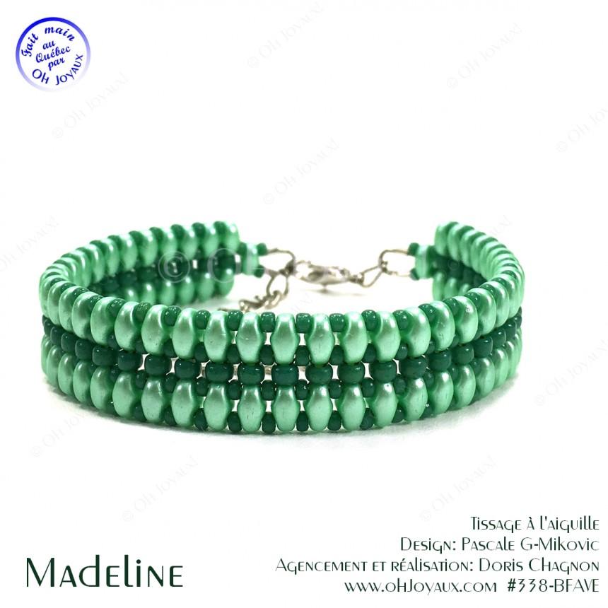 Bracelet Madeline en vert menthe