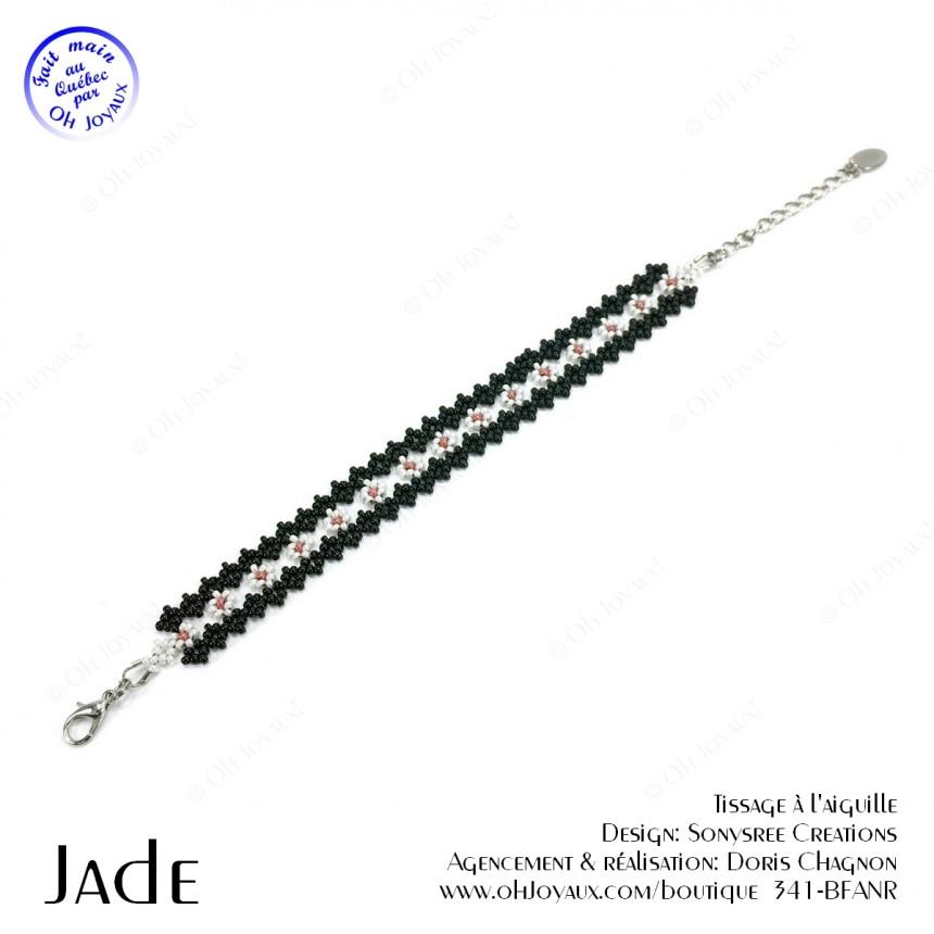 Bracelet Jade en noir et blanc
