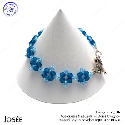 Bracelet Josée de couleur aqua marine