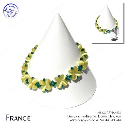 Bracelet France en jaune et vert
