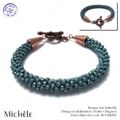 Bracelet Michèle en turquoise