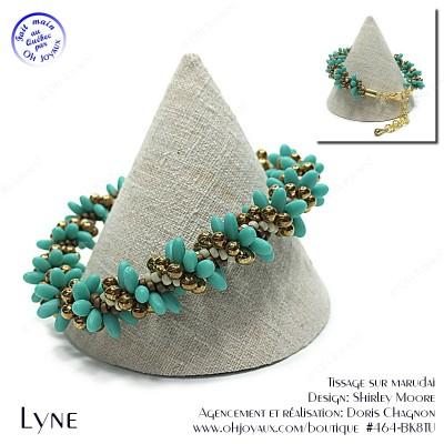 Bracelet Lyne en turquoise et cuivré