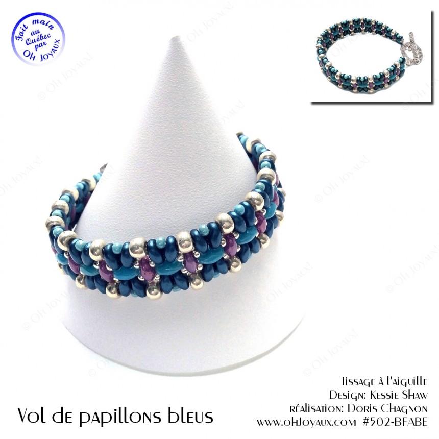 Bracelet Vol de papillons bleus