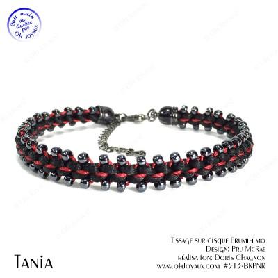 Bracelet Tania en noir et rouge