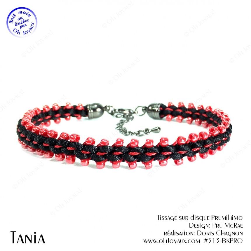 Bracelet Tania en rouge et noir