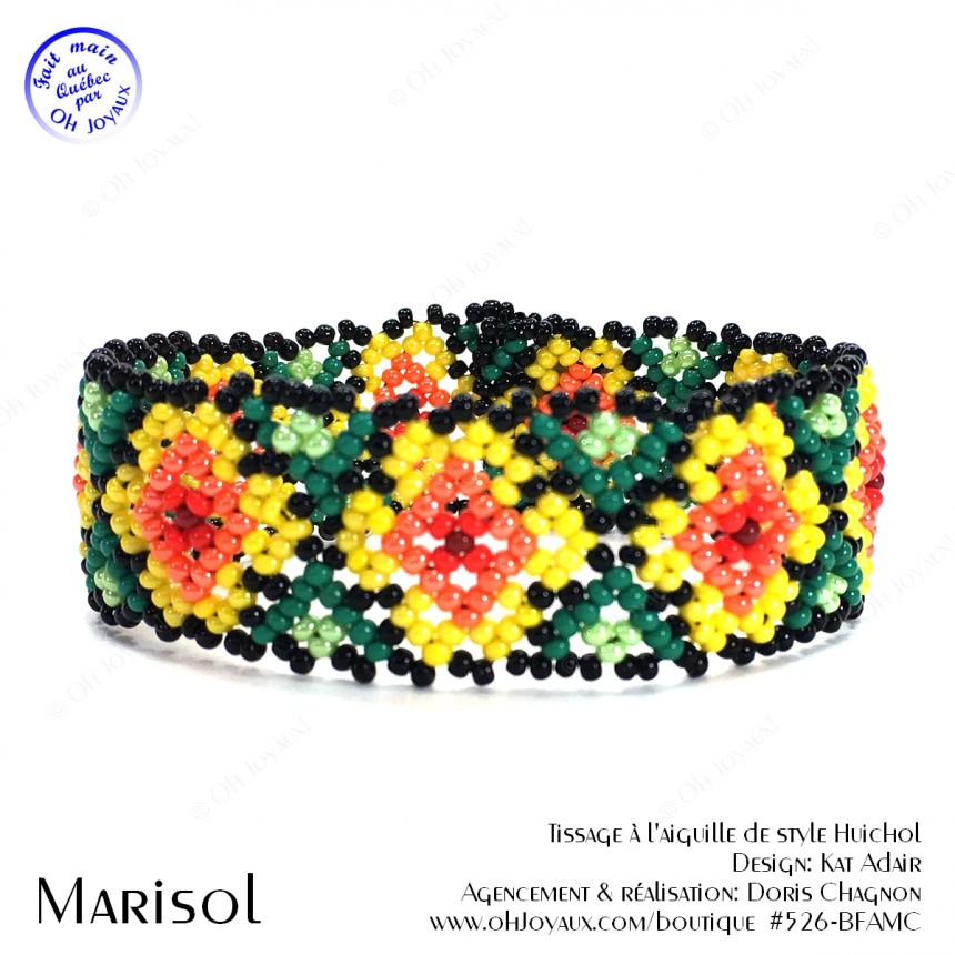 Bracelet Marisol multicolore de style Huichol