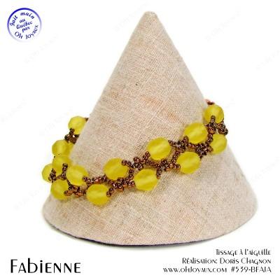 Bracelet Fabienne en jaune et bronze