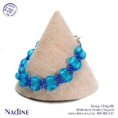 Bracelet Nadine en aquamarine