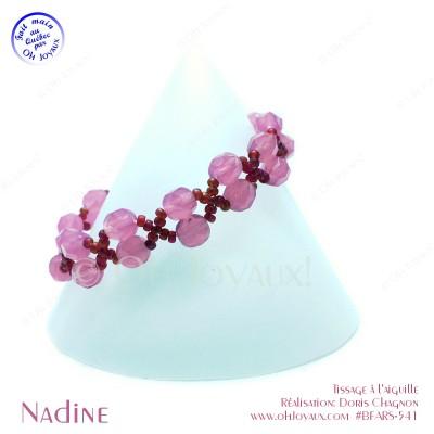 Bracelet Nadine en rose et rubis