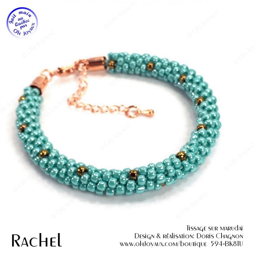 Bracelet Rachel en turquoise et cuivré