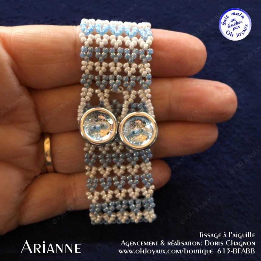 Bracelet Arianne en bleu et blanc