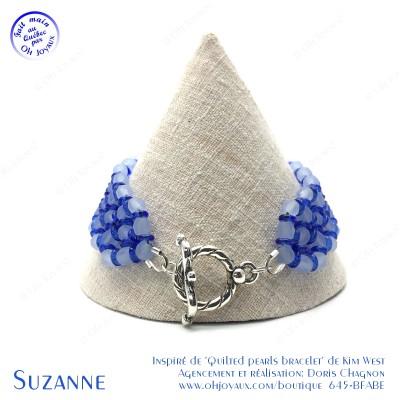 Bracelet Suzanne en bleu