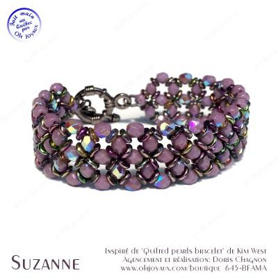 Bracelet Suzanne en mauve